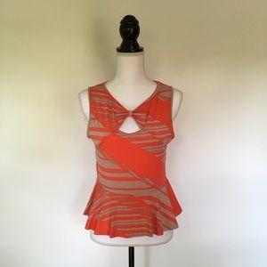 💰5/$25 Orange & Tan Tank Top Julie's Closet New